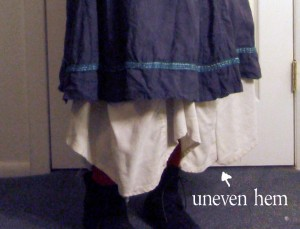 the uneven hem