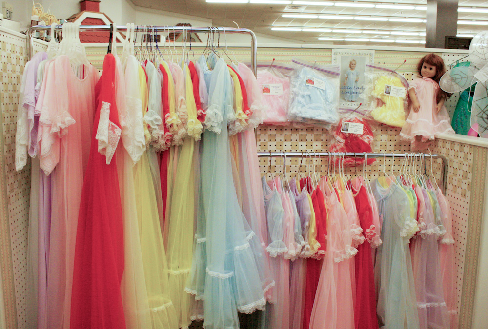 The entire booth of Little Lady Lingerie