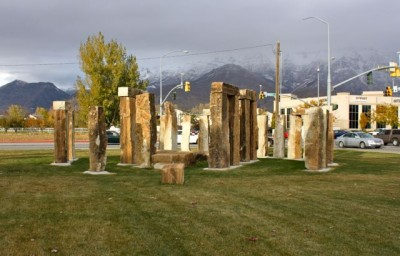 Orem traffic lights at Stonehenge