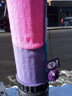 Yarn bombing at Sundance... sponsored by Yahoo!