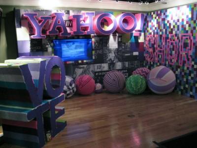 Yahoo! sponsor booth at Sundance Film Festival 2012