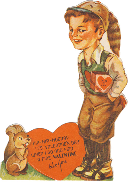 vintage Valentine Day cards can be really, really creepy regardless of the message. This one's all in the art.