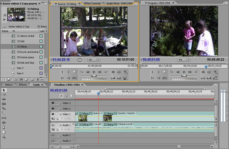Adobe Premiere Pro: At least not as ghetto as iMovie or Windows Movie Maker.